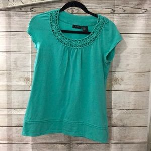 R.Q.T  Soft and Stretchy Top With Pretty Neckline